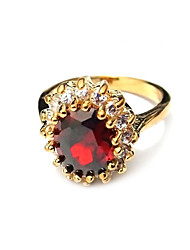 Ruby Series  Gold Plated Dress Ring