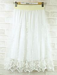 Pleated Lace Yarn Skirt