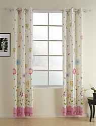 (Two Panels) Cute Angle Stars Kid Curtain