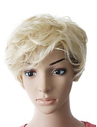 Capless High Quality Synthetic Blonde Short Curly wig