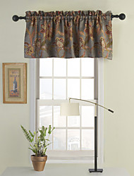 Grey Floral Tailored Valance