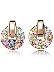 10% d'argent magnifiques boucles d'oreilles cz cubes en alliage de zircone (plus de couleurs)