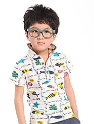 Sea World Pattern Boys' Cotton Short Sleeve T-shirt