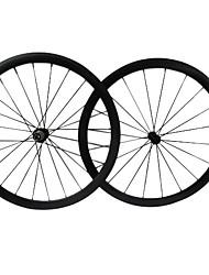 farsport - 38 mm de fibra de carbono tubulares de juegos de ruedas de bicicleta de carretera con la Serie M