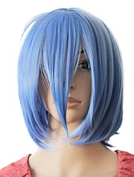 Capless Synthetic Light Blue Short Straight Party Wig