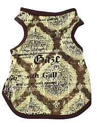 Hunde - Sommer - Baumwolle Gelb - T-shirt - XS / M / XL / XXXL / XXS / S / L / XXL