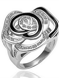wunderschönen Zirkonia 18k vergoldet floewer Mode-Ring