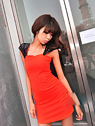 Attractive Slim Woman Party Dress