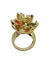 cubic zirconia platinato stile irregolare anello di moda