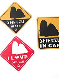 Yo amo a mi perro Shih Tzu pegatinas de coches de estilo (paquete de 3)