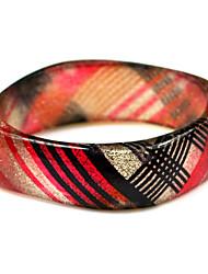 rodada das senhoras resina pulseiras pulseira clássico com veias vermelhas e pretas