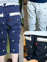 meninos relâmpago impressão estrela zíper meados da década de calças