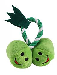 apple gemelli stile cigolio toy pet con la corda per i cani (13 x 13cm)