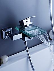 Grifo de ducha / Grifo de bañera - Contemporáneo - Cascada - Latón (Cromo)