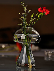 Table Centerpieces Mushroom Shaped Glass Vase  Table Deocrations