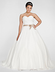 Lanting Ball Gown Plus Sizes Wedding Dress - White Chapel Train Sweetheart Chiffon