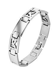 eruner®men adelaar patroon titanium stalen armband (zilver)