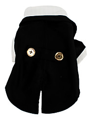 Dog Coat / Tuxedo Black Winter / Spring/Fall Color Block Wedding