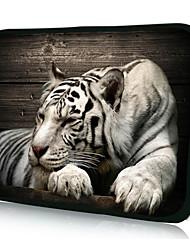 "neopreno de descanso tigre Funda para laptop de 10 a 15 casos ""protectores de MacBook Dell HP Acer samsung"