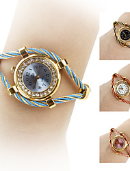 Women's Circle Watchcase Style Steel Analog Quartz Bracelet Watch (Assorted Colors) Cool Watches Unique Watches Strap Watch