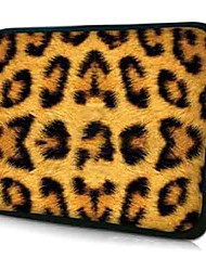 "estampado de leopardo de neopreno Funda para laptop de 10 a 15 casos ""protectores de MacBook Dell HP Acer samsung"