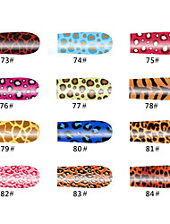 Leopard 20 Tips Nail Art Stickers