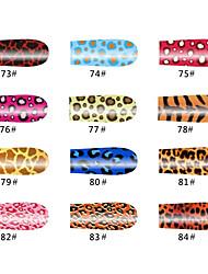 Леопард 20 советов ногтей наклейки