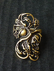 bronze esculpido flor gothic lolita anel