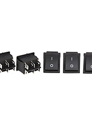 Car Electrical Power Control On/Off 6-Pin Rocker Switches (5-Piece Pack)