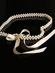 spandex / coton avec ceinture de perles de la chaîne / courroie