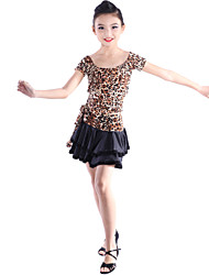 Dancewear Viscose Latin Dance Outfits For Children