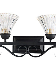 Classic Glass Wall Lights with 2 Lights
