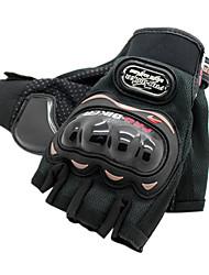 Leisure Sports Motobike Short Finger Polyester Gloves