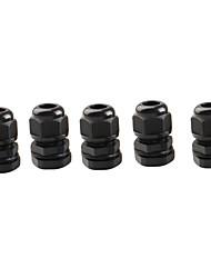 10 штук PG11 черного пластика водонепроницаемые разъемы кабельные вводы для поделок