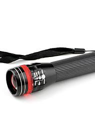 Lanternas LED / Lanternas de Mão LED 3 Modo Lumens Foco Ajustável Outros AA Outros , Preto Liga de Aluminio