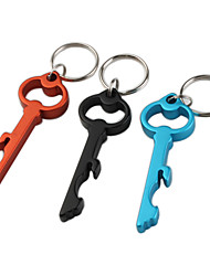 Key Shaped Bottle Opener Keychain