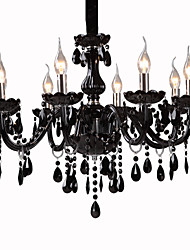 Chandelier ,  Modern/Contemporary Electroplated Feature for Crystal Glass Living Room