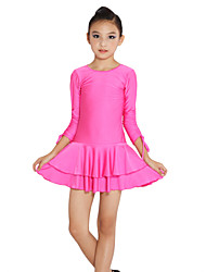 Latin Dance Dresses Children's Performance Spandex Long Sleeve