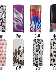 70 Pcs Full Cover Pretty French Acrylic Nails Tips 8 Colors Available