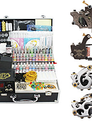4 Tattoo Gun Kit for Lining and Shading (1 Cast Iron Tattoo Machine and 3 Alloy Tattoo Machine)