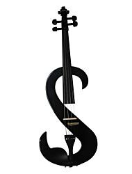 Cozart - (ml017) 4/4 parties jujube violon électrique avec étui / arc / résine / câble / batterie (s-style)