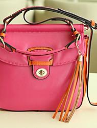 bonito contrato cor do saco mensageiro borla (25cm * 9cm * 24cm)