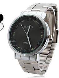 Hombre Reloj de Vestir Cuarzo Aleación Banda Plata Blanco Negro