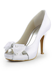 aguja del talón de satén peep toe con bowknot boda / fiesta zapatos de colores (más)