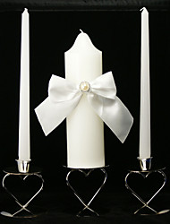 Classic Wedding Unity Candles With Sash Bow(Not Include Candle Holder)