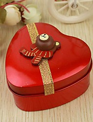 12 Piece/Set Favor Holder - Heart-shaped Tins Favor Tins and Pails