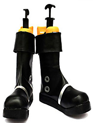 Bottes de Cosplay One Piece Portgas D. Ace Anime Chaussures de cosplay Noir Cuir PU Masculin