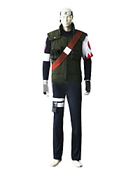 Inspired by Naruto Sakumo Hatake Anime Cosplay Costumes Cosplay Suits Patchwork Black Long Sleeve Vest / Top / Pants / Armlet / Strap