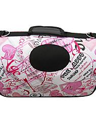 el corazón de graffiti portátil de aire libre del perro gato portador de mascotas (37 x 24 x 23 cm)