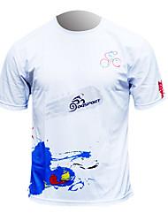 OQsport-100% Poliéster Homens Quick Dry Curto-luvas ciclismo T-shirt Jersey (Olímpicos de Londres Edition)